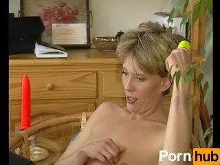 Skinny German mom gives awesome blowjob
