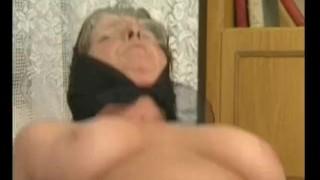 Busty granny got her hairy pussy fucked porno