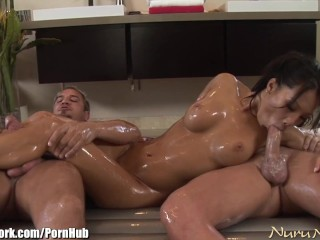 Asian black double penetration