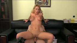 FakeAgent Huge natural tits babe in casting