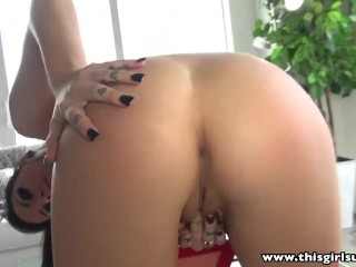 Preview 3 of ThisGirlSucks Goth babe Karmen Karma blowjob handjob cum swallow