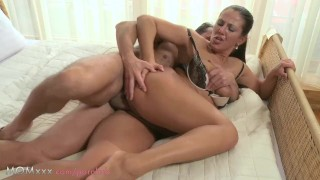 Enough milf his get of can't cock mom female foreplay