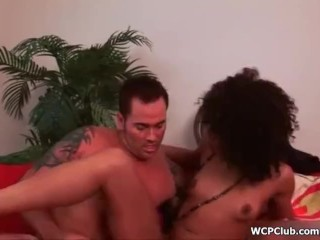 WCPClub Black hooker riding big white cock