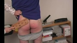 BBW Babe Spanks Employee