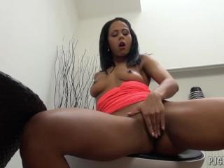 Kristina masturbates with a gyno speculum