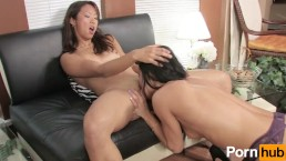 Asian girl's first lesbian experience