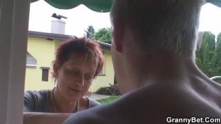 Stallion bangs granny next door porno