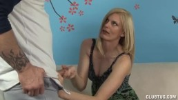 Horny Milf Jerks Off Her Step-Son