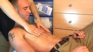 Geting of guy spite in french  him wanked hand cumshot