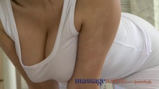 Massage Rooms Big natural breasts and small hands satisfy