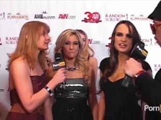 PornhubTV Madison Ivy Teal Conrad Red Carpet at 2013 AVN Awards