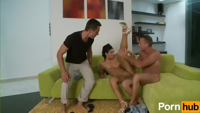 Petite Hottie Gets Stuffed By Two Cocks - 3