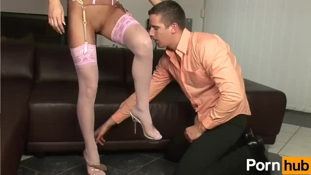 Juliette Shyn Gives A Foot-Job - 1