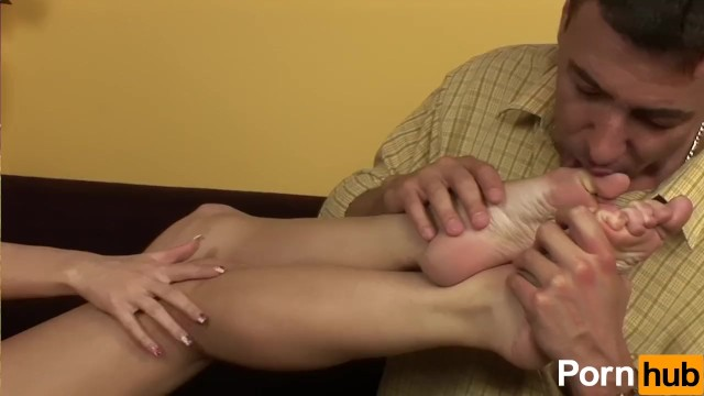 Giving The Man A Foot-Job - 1