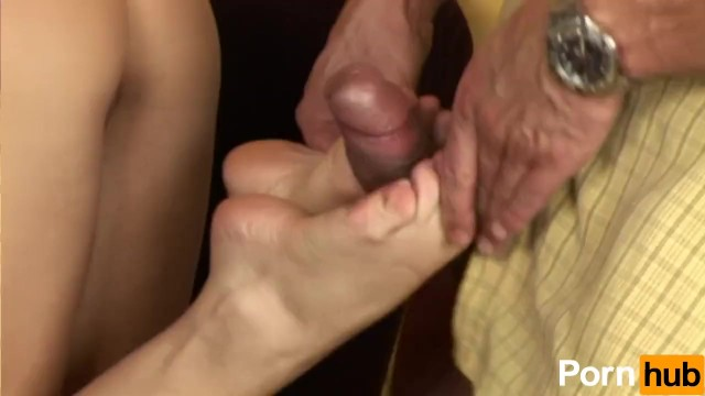 Giving The Man A Foot-Job - 8
