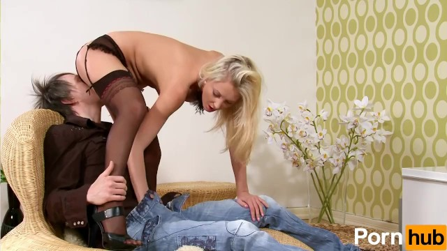Sexy Blonde In Lingerie Wants The Cock - 4