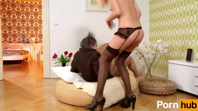 Sexy Blonde In Lingerie Wants The Cock - 9