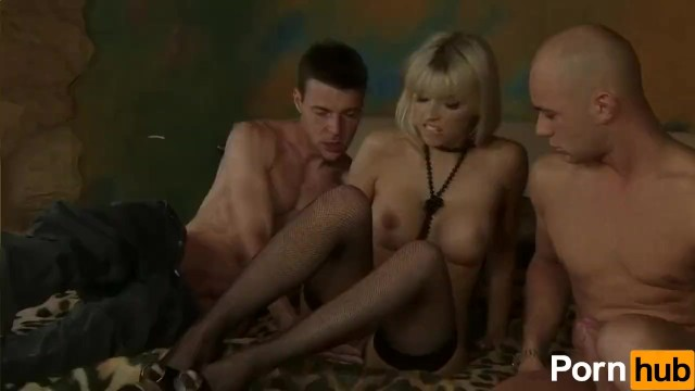 Blonde Babe Takes Two Cocks - 2