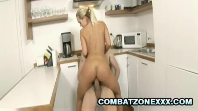 Mature Euro babe Mia Leone fucking inside the kitchen - 15