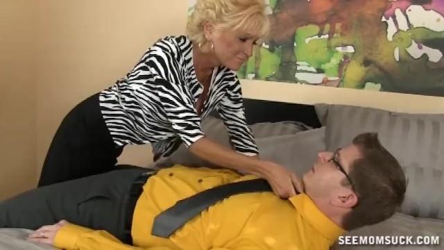 Horny Mature Lady Sucks A Big Cock - 1