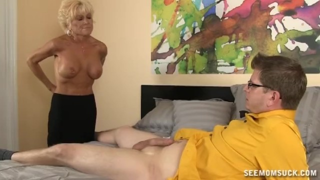 Horny Mature Lady Sucks A Big Cock - 13