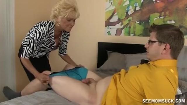 Horny Mature Lady Sucks A Big Cock - 5