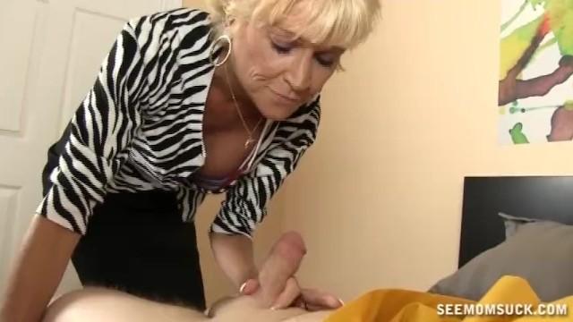 Horny Mature Lady Sucks A Big Cock - 7