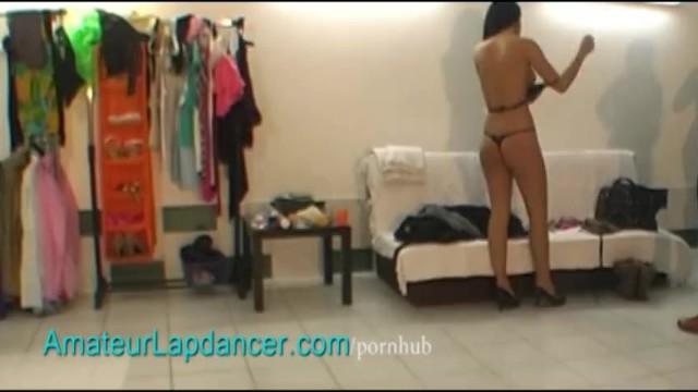 Sexy tanned brunette does lapdance - 15