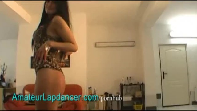 Sexy tanned brunette does lapdance - 8