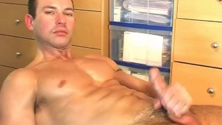 Cute wanked get  a guy swimmer suitetrousers job