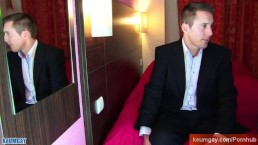 Real straight french Banker guy get wanked by a guy !