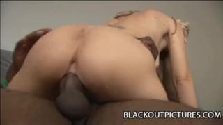 Horny white babe Tabitha James enjoying a thick black cock Doggy style