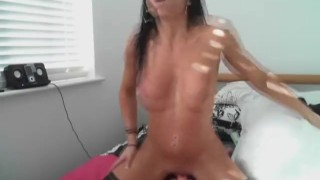 Dance and dildo abs babe with hd rides rides masturbation
