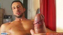 Sport italian guy exposed! Very large and long dick
