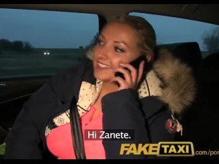 FakeTaxi Blonde with Huge tits pays her debt
