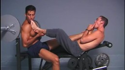Young Barefoot Workout - Scene 3