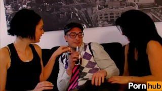 Hot fucking babes end's up two nerd fingering glasses