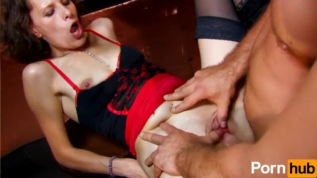 Small fuck holes - Pale-skinned french whore takes a fat cock in all of her holes