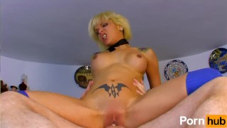 Blonde Spanish slut gets sex in kitchen Daquiri ebony