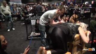PornhubTV Intern Amber Gets Flogged at eXXXotica 2013 porno