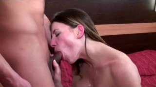 Tits cumshot taking with french babe on horny anal orgasm ass