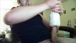 Thick long cock gives massive cumshot