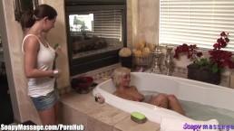 Briana Blair Lesbian Bathtime Massage & Toy Fucking