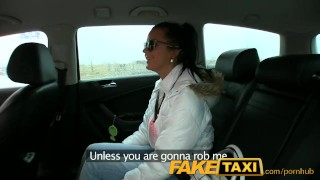 FakeTaxi Hot 19 year old in taxi cab scam Blowjob rough