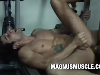 Hot Muscular Dudes Fernando St Clair And Apollo Max Sweaty Ass Workout