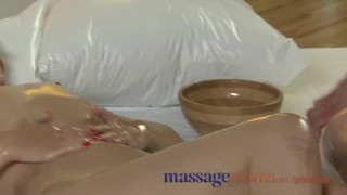 Massage Rooms Cute British girl has her pussy stretched by horny masseuse porno