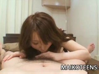 Beautiful Japanese Teenager Makoto Mukai Gets Pussy Wet With Rough Sex