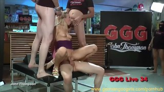 Hot blonde and brunette ladies sucking cocks while getting fucked Facial deepthroat