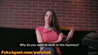 FakeAgent HD Brunette with amazing natural tits porno