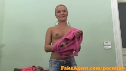 FakeAgent HD Mature amateur takes frantic facial